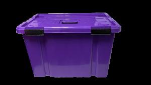 Caja hermética de 50 litros - Morado royal