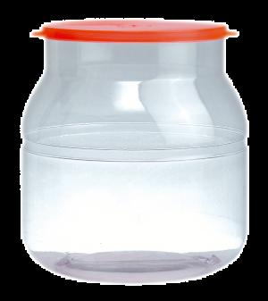 Envase dulcero PVC redondo
