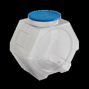 Envase dulcero PVC hexagonal